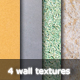4 Grunge Wall Textures - GraphicRiver Item for Sale