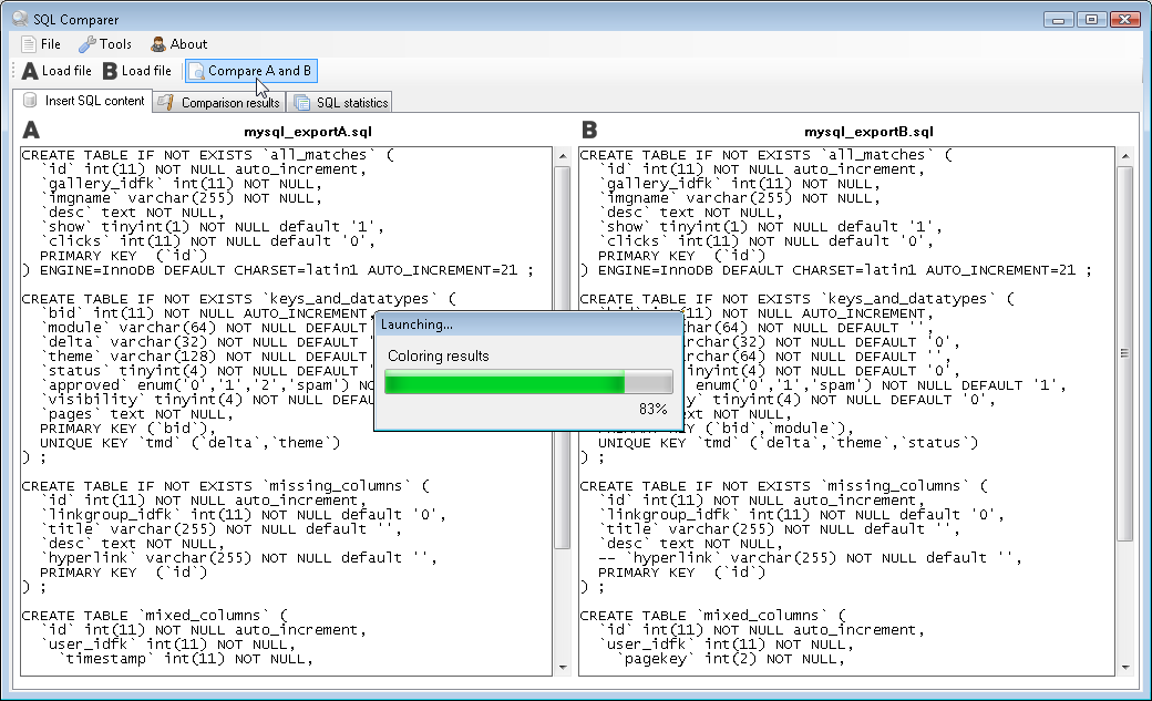 Sql Comparer Synchronize Your Database Versions By Steinikallinn