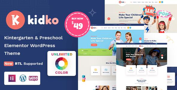 Fabulous Kidko - Kindergarten & Baby Care WordPress Theme + RTL