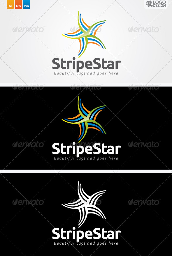 Stripe Star - Symbols Logo Templates