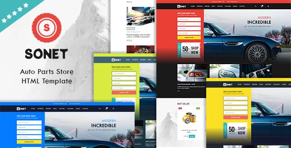 Sonet – Auto Parts Store HTML Template