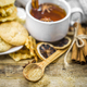 delicious cookies and Cup of hot tea with a cinnamon stick - PhotoDune Item for Sale