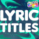 Lyric Titles | FCPX - VideoHive Item for Sale