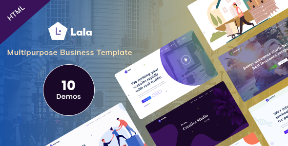 Multipurpose Business HTML Template - Lala