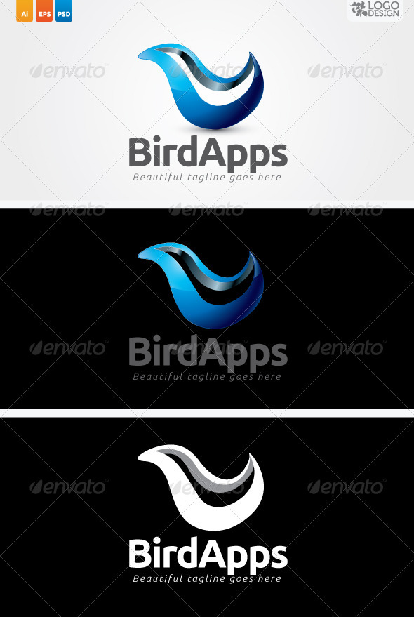 Bird Apps - Animals Logo Templates
