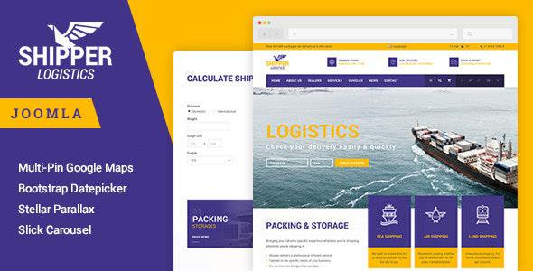 Shipper Logistic - Transportation Joomla Template