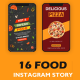 Food Instagram Story Pack - VideoHive Item for Sale