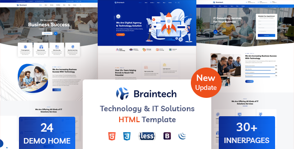 Braintech - Technology & IT Solutions HTML Template