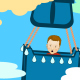 boy in hot air balloon logo - VideoHive Item for Sale