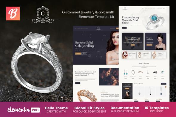 CustomMade - Customized Jewellery & Goldsmith Elementor Template Kit