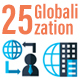 25 Business Globalization Flat Icons