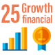 25 Growth Financial Icons