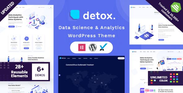 Incredible Detox - Data Science & Analytics WordPress Theme