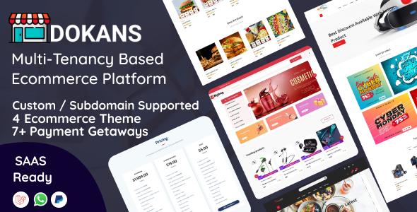 DOKANS - Multitenancy Based Ecommerce Platform (SAAS) Nulled