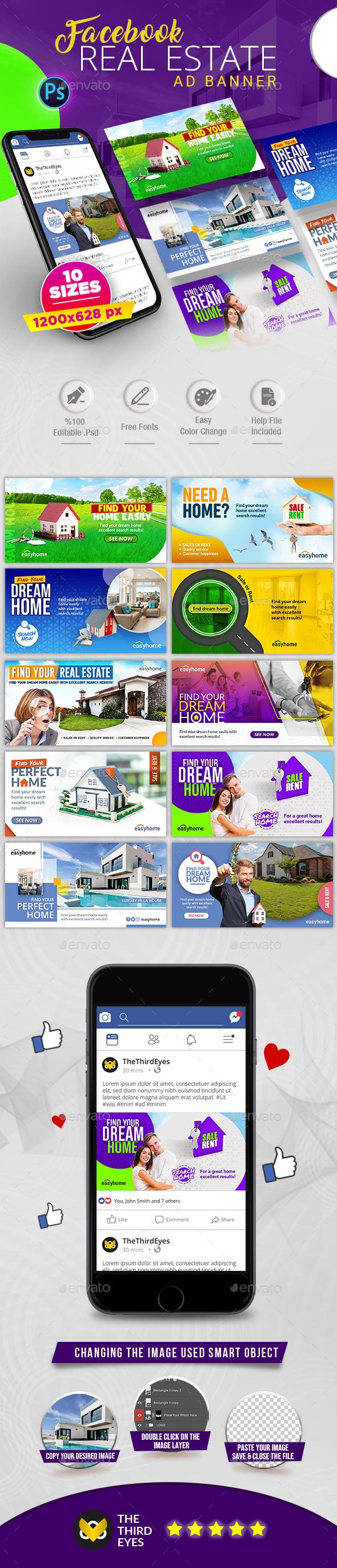 Real Estate Facebook AD Banner V.2