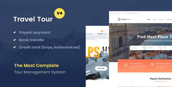 TravelTour - Travel & Tour Booking WordPress