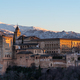View of arabic fortress Alhambra at the evening in Granada, Spain - PhotoDune Item for Sale
