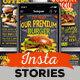 Blackboard Burger Menu Instagram Stories - VideoHive Item for Sale
