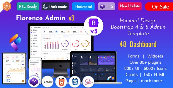 Wondrous Florence Admin - Bootstrap Admin Dashboard Template & User Interface