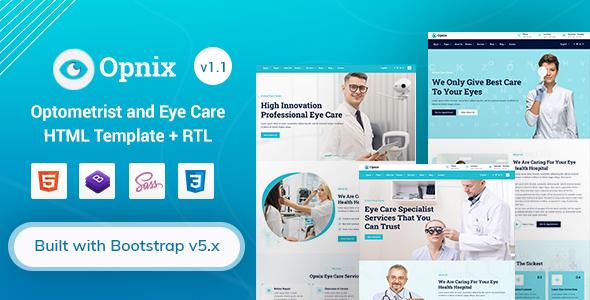 Opnix – Eye Care & Optometrist HTML Template