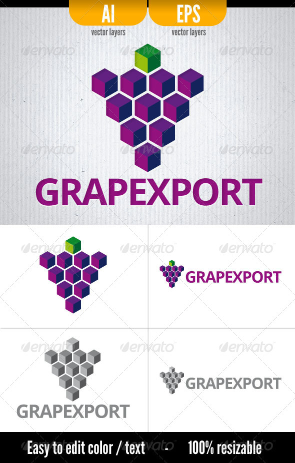 Grapexport - Objects Logo Templates