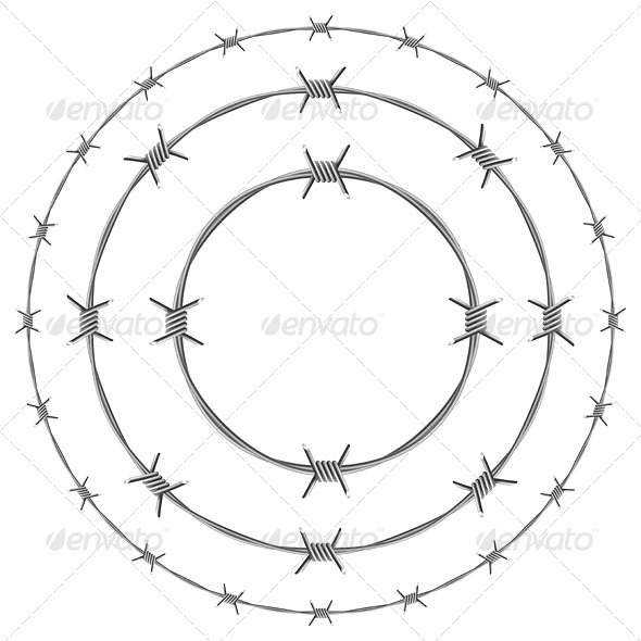 Barbed wire - Borders Decorative