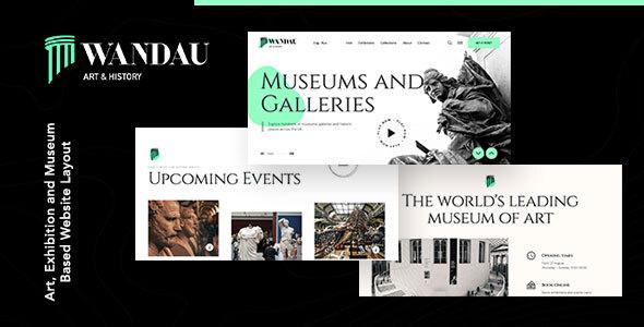Wandau   Art & History Museum WordPress Theme