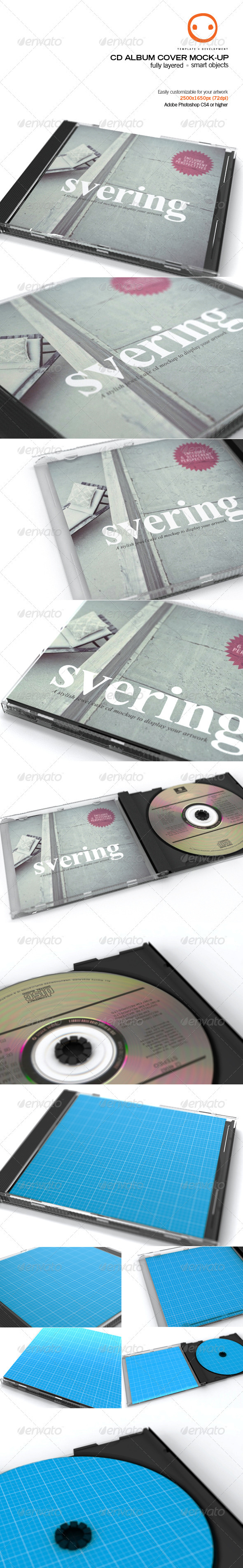 CD Album Cover Mock-up - Discs Packaging