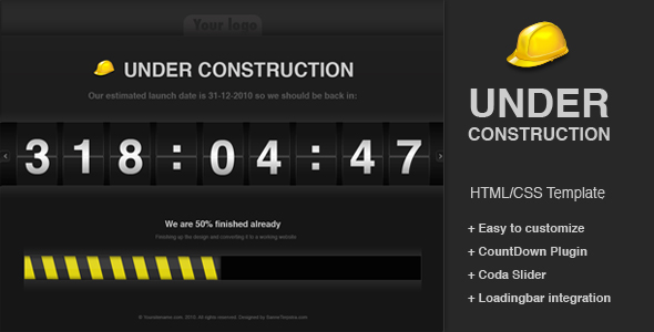 Free Download Under construction CountDown template Nulled Latest Version
