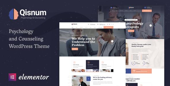 Qisnum - Psychology & Counseling WordPress Theme