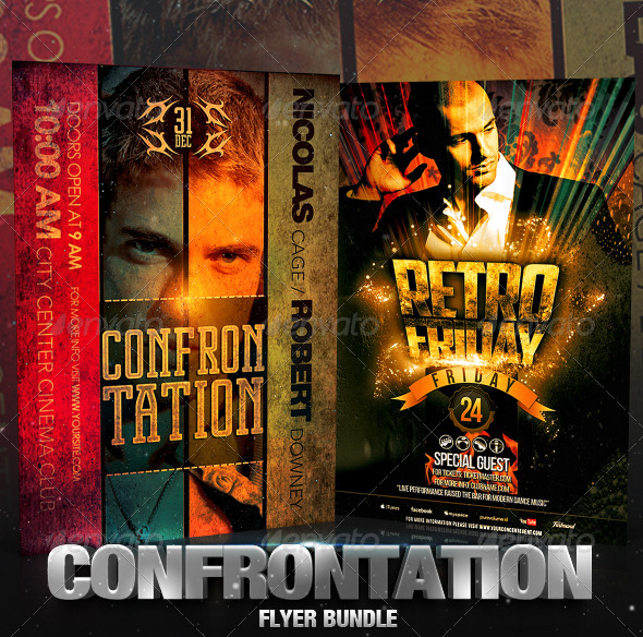 Confrontation Flyer Bundle - Clubs & Parties Events