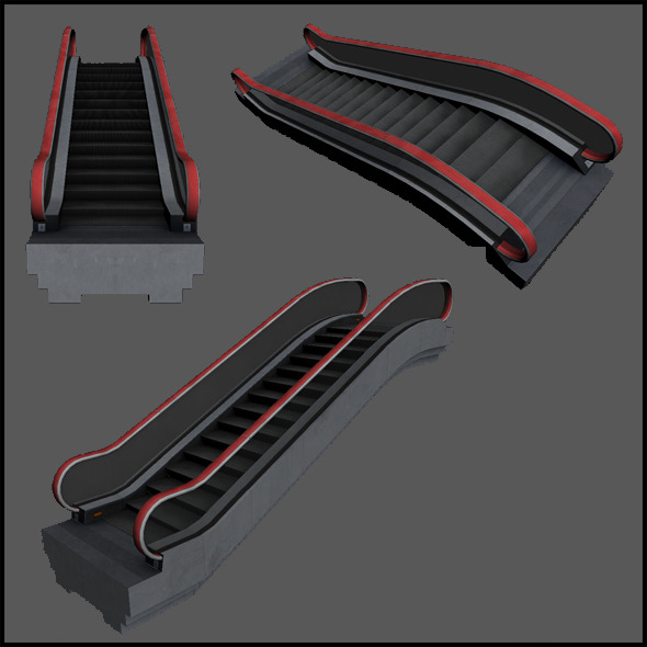 Mall escalator - 3DOcean Item for Sale