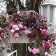 City street is decorated with artificial flowers. - PhotoDune Item for Sale