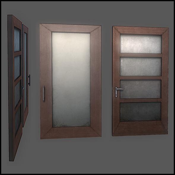 Classic Door Set - 3DOcean Item for Sale