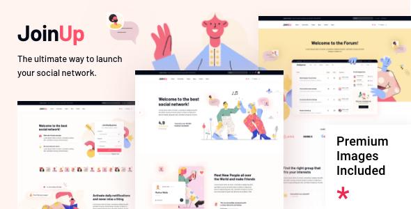 Join Up - BuddyPress Community Theme