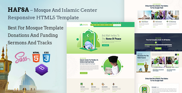 Hafsa – Islamic Center  Responsive HTML5 Template