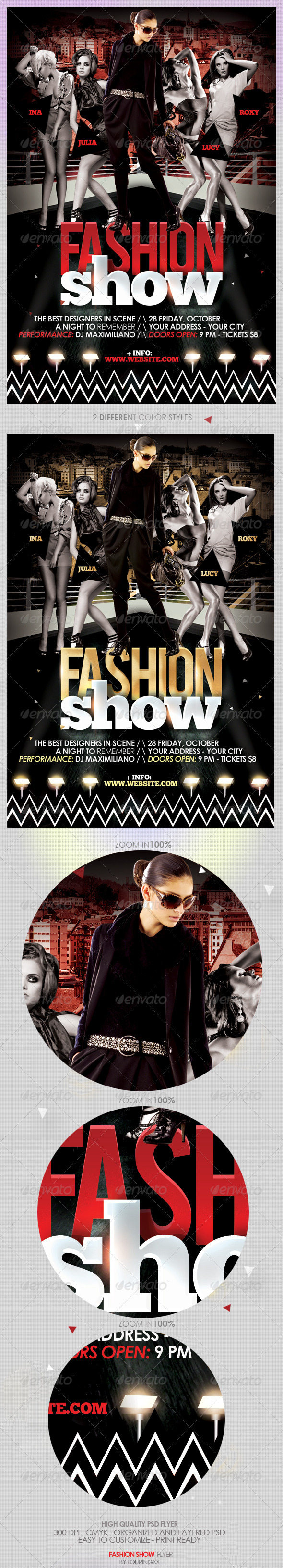 Fashion Show Flyer Template - Vol 2 - Clubs & Parties Events
