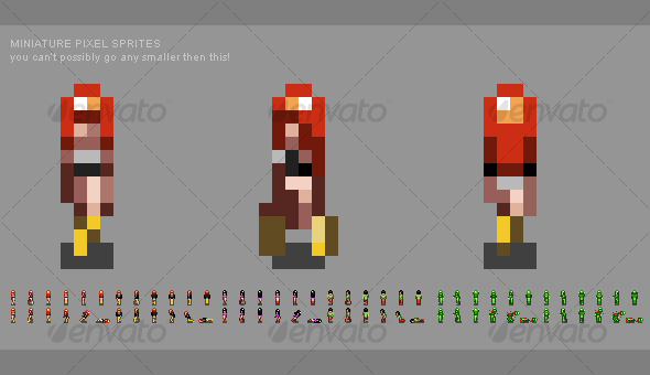 Miniature Pixel People Sprites - Sprites Game Assets
