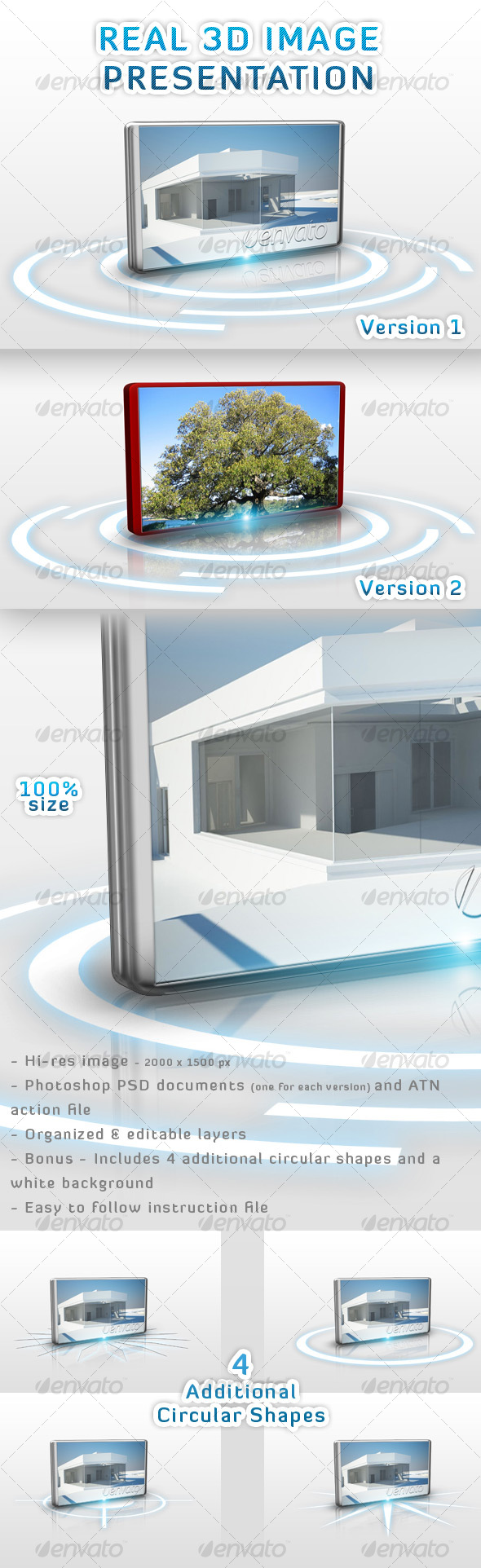 Real 3D Image Presentation - Tech / Futuristic Photo Templates