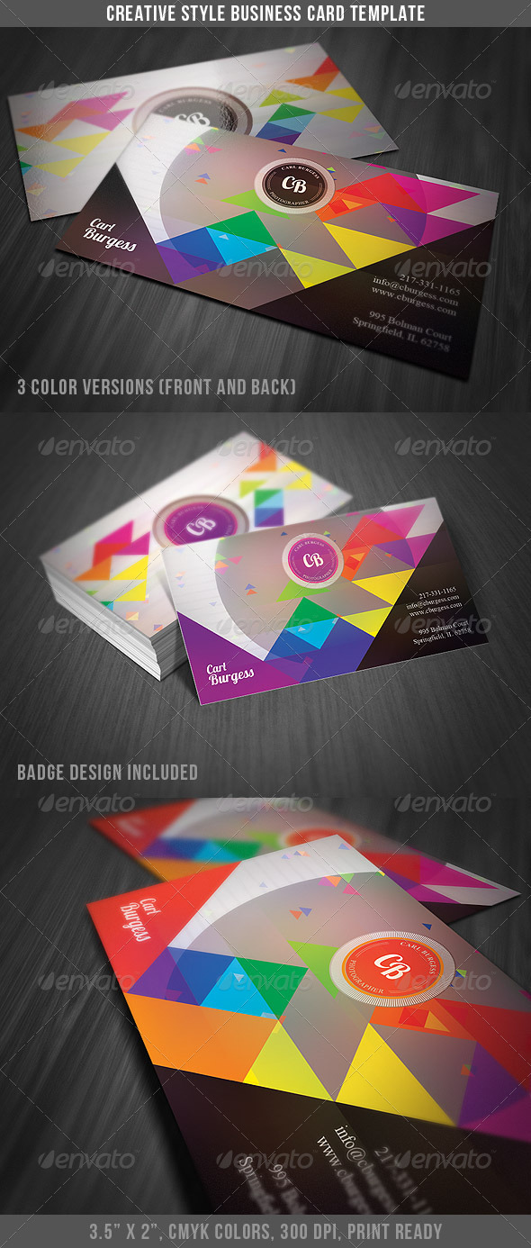 Creative Style Business Card - Creative Business Cards