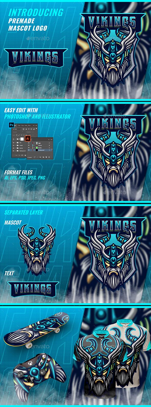 Viking Mascot & Esport Logo