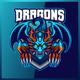 Blue Dragons - Mascot & Esport Logo