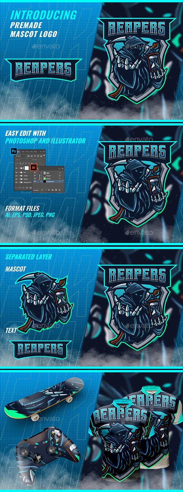 Blue Reaper - Mascot & Esport Logo