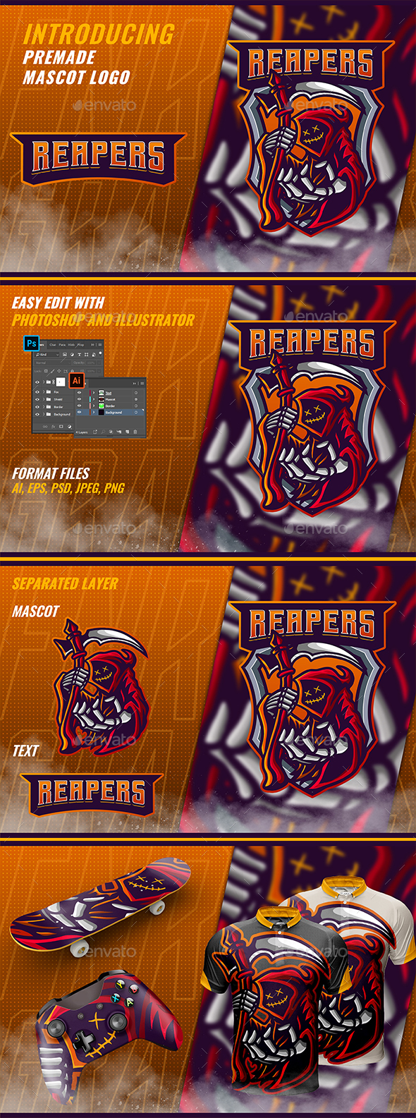 Red Reaper - Mascot & Esport Logo
