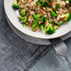 Risotto with Broccoli and Almond. Risotto made of Groat - PhotoDune Item for Sale