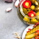 Pickled Cucumber Gherkins with Hot Chili Pepper in Jar - PhotoDune Item for Sale