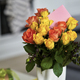 Bouquet of flowers in a vase with a letter - PhotoDune Item for Sale