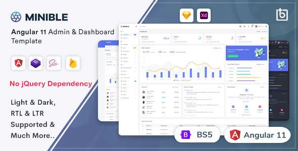Minible - Angular Admin & Dashboard Template
