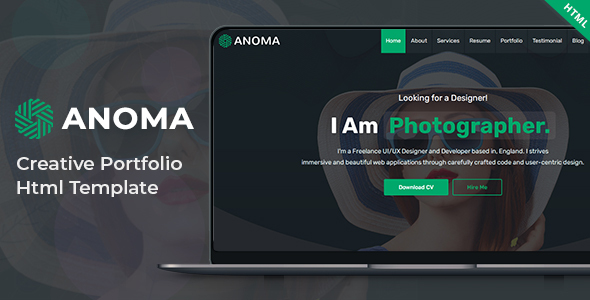 Anoma – Creative Portfolio Html Template