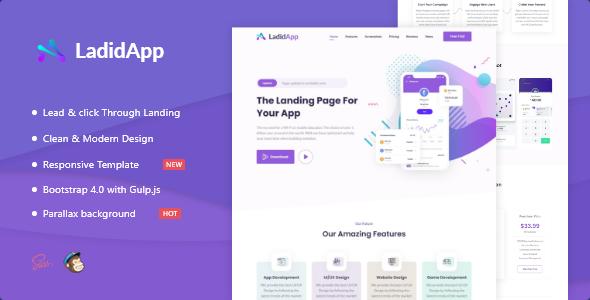 LadidApp - App HTML Landing Page Template
